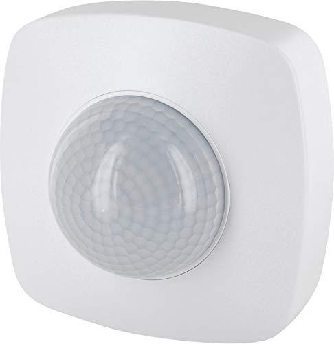 Rilevatore di movimento a infrarossi, 360°, IP65, 230 V, con sensore crepuscolare, per esterni e ambienti umidi, portata: 20 m, adatto a LED da 1 W a 2000 W