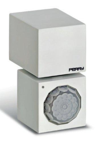 Rilevatore di movimento da parete a raggi infrarossi color bianco modello CUBE 1SPSP003B Perry