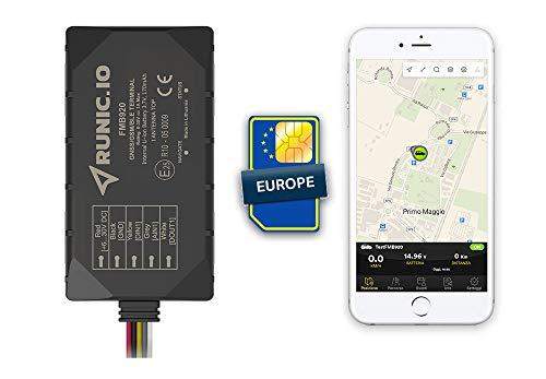RUNIC.IO Localizzatore GPS tracker inclusi 2 MESI di traffico SIM Europa e servizio Cloud