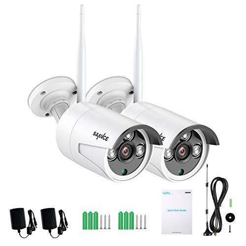 SANNCE 8CH 1080P kit di videosorveglianza senza fili WiFi NVR sistema di sorveglianza telecamera senza fili 2 MP