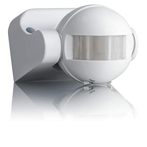 SEBSON Rilevatore di Movimento Esterno IP44, Montaggio ad Superficie a Parete, LED adatto, programmabile, Sensore Infrarossi, orientabile, 12m / 180°