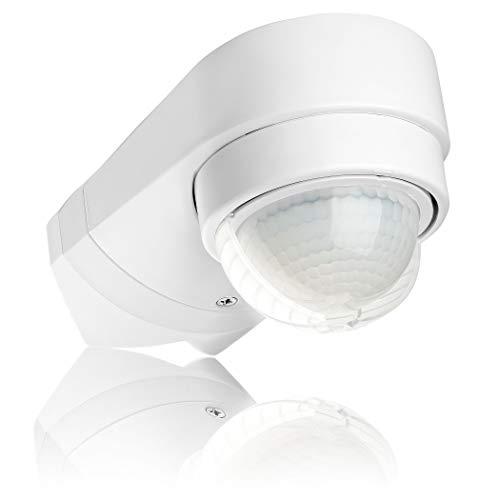 SEBSON Rilevatore di Movimento esterno IP54, Montaggio a Parete o ad Angolo, LED adatto, programmabile, Infrarossi Sensore, 10m / 240°