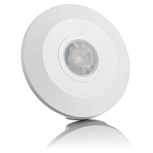 SEBSON Rilevatore di Movimento Interno, Montaggio a soffitto, LED Adatto, programmabile, Infrarossi Sensore, Portata di rilevamento Max. 6m/ 360°