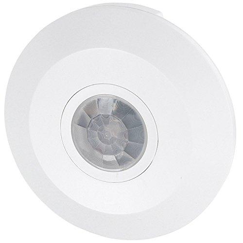 Sensore di movimento a infrarossi 360°- da soffitto - sottile 24 mm - adatto a lampadine LED - 1W-1200W 230 V