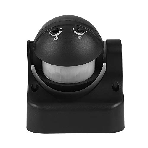 Sensore di movimento automatico a infrarossi Sensore di movimento esterno, TS-A110, IP44 Sensore di movimento di sicurezza all'aperto PIR con angolo di induzione a 180 gradi,15 m (nero)
