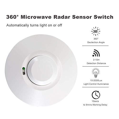 Sensore radar a microonde Interruttore della luce Rilevatore di movimento Sensore di movimento Rilevatore di movimento Accensione/spegnimento automatico