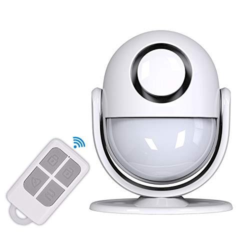 Sirena con Sensore di Movimento , 1 Telecomando Sirena da Magazzino per Casa Intelligente -Sirena 125 DB--Adatta per Interni di Negozi / Uffici / Sicurezza Domestica