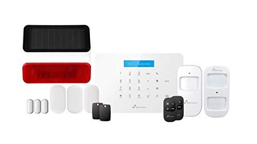Sistema antifurto domestico Nivian senza canone–Wifi/GSM-KIT espandibile fino a 60 dispositivi-LCD-Telecomando tramite APP Tuya-Facile installazione P2P con QR-Wireless senza cavi