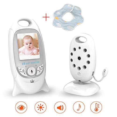 SmartBaby Baby Monitor Audio Bidirezionale Video Camera Babyphone Wireless Realtime Digital LCD Display Babyviewer Videosorveglianza Sicurezza (smartbaby babyphone)