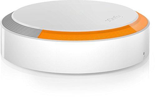 SOMFY - Sirena Esterna Antifurto Wireless I Collocamento Esterno Casa I Rilevamento Affrazioni I Allarme Lampeggiante E Sonoro - Bianco, Arancione