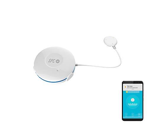 SPC Eluvio – Sensore di perdite d'acqua intelligente Wi-Fi compatibile con Google Home e Amazon Alexa, bianco