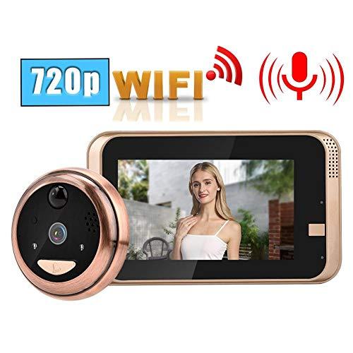 Spioncino Digitale, 720P HD Telecamera Spioncino LCD da 4,3 Pollici Visualizzatore di Porte Campanello Video WIFI Wireless Intercome con IR Night Vision / PIR Motion Detection per Sicurezza Domestica