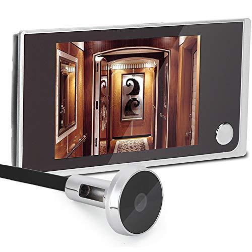 Spioncino Elettronico,Tangxi Spioncino Digitale Peephole Viewer,Schermo LCD 3,5 Pollici +120° Angle View+ 24 Ore di Monitoraggio,Spioncino Telecamera per Porta,per Sicurezza Domestica