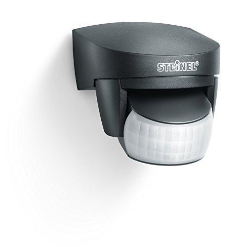 Steinel Sensore di movimento IS 140-2 - Rilevatore con angolo rilevamento 140°, raggio d'azione 14m, montaggio su superficie o incasso, interno ed esterno - Nero