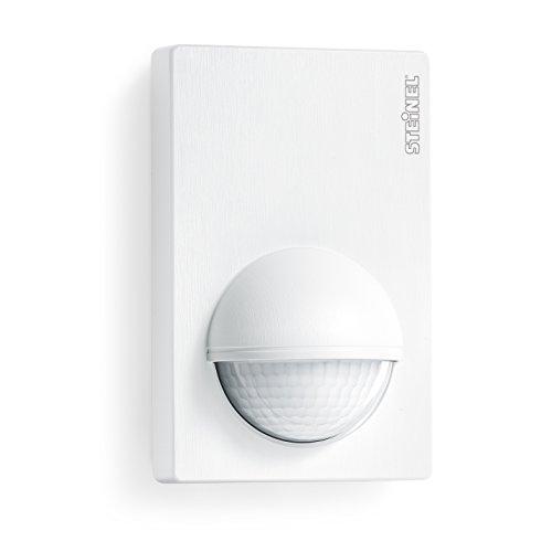 Steinel Sensore di movimento IS 180-2 bianco - Segnalatore di movimento a infrarossi con angolo di rilevamento 180°- Sensore crepuscolare per interno ed esterno