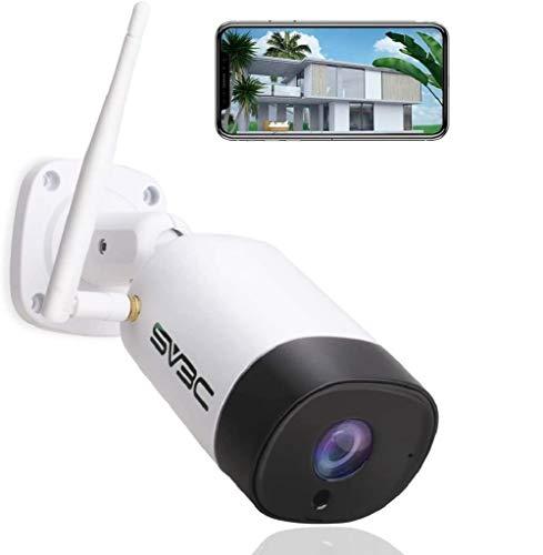 SV3C 5MP Telecamera wi-fi Esterno senza fili, Videocamera Sorveglianza Esterno wifi con IP67 Impermeabile, Visione Notturna, Motion Detect, Audio a 2 Vie, Vista a Distanza Tramite Phone/PC