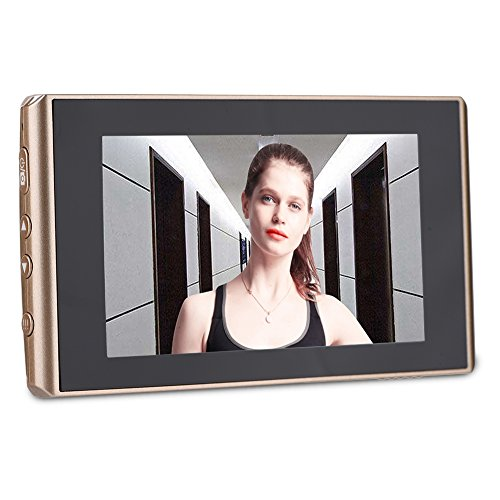 Tangxi Spioncino Elettronico, 4300E Schermo LCD 4,3 Pollici Visualizzatore Digitale Porte con 160 °Obiettivo Grandangolare Funzione di Cisione Botturna 1500mAh Integrato
