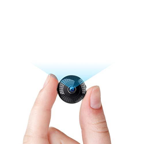 Telecamera Mini 1080P, TDW Telecamera Wireless Wifi con Microfono di Rilevamento Microfono Portatile Pocket IP per IPhone Android Smartphone Videocamera Interna da Esterno