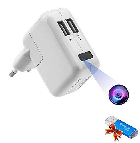 Telecamera Spia Mini Microcamere 1080P HD Videocamera di Sorveglianza Nascosta Rilevamento di Movimento Portatile Microtelecamera Hidden Cam Video Registrazione in Loop Telecamera di Sicurezza