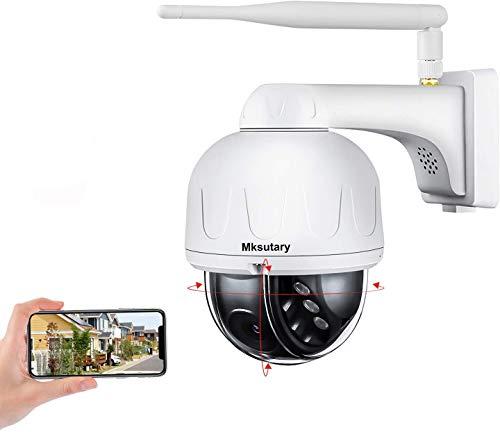 Telecamera Wi-fi Esterno, Telecamera di Sorveglianza IP 1080pVideosorveglianza Visione Notturna Rilevazione del Movimento Monitoraggio Remoto tramite PC/Smartphone/Tablet
