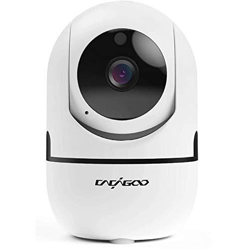 Telecamera Wi-Fi interno, CACAGOO 1080P Videocamera di Sorveglianza , ip camera wifi per Animali Domestici e Bambini, Baby Monitor conVisione notturna e Audio Bidirezionale