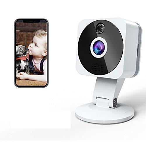 Telecamera Wi-fi Interno1080P, NIYPS Full HD senza fili Videocamera Sorveglianza con Visione Notturna, Audio Bidirezionale e Sensore di Movimento TelecameraIP Cloud per Baby Monitor, Bambini/Cani
