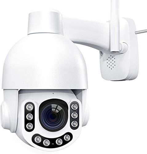 Telecamera WiFi Esterno - 2K 3MP IP Camera con 360° Pan 160° Tilt, WiFi Videocamera Sorveglianza Esterno,Zoom Ottico 8X,2 Vie Audio,Impermeabile, Visione Notturna