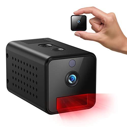 Telecamere nascoste,IHOUMI 1080P mini telecamera wi-fi interno,telecamera auto atti con visione notturna, rilevamento del movimento, audio bidirezionale,Con modalità AP (non è richiesto WIFI)