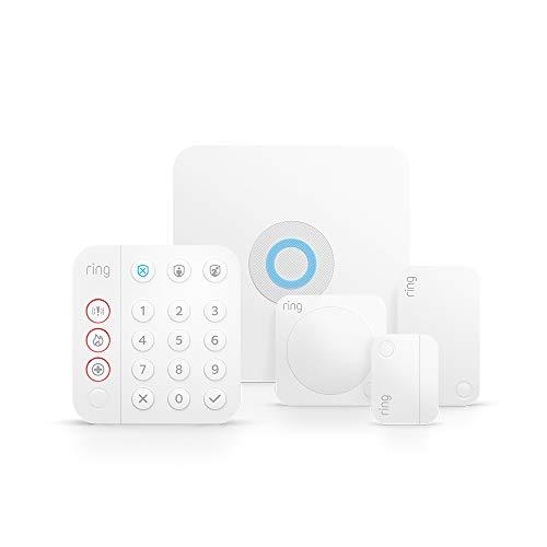 Ti presentiamo Ring Alarm | Kit da 5 pezzi, da Amazon - Sistema per la sicurezza domestica con monitoraggio assistito (opzionale) - Senza vincoli di lunga durata - Compatibile con Alexa