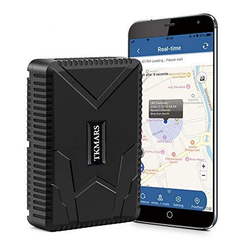 TKMARS GPS Tracker per Auto, Hangang GPS Tracker 120 Giorni Standby Localizzatore GPS per Auto Moto, Impermeabile Posizione GPS Geo-fence Alarm App Gratuita Veicolo in Tempo Reale Tracer TK915