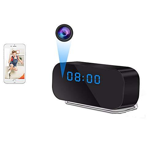 UYIKOO Orologio Telecamera WiFi Spia Telecamera Nascosta HD 1080P Mini Telecamera WiFi con Supporto Obiettivo Largo 150° Visione Notturna e Rilevamento del Movimento Adatto per iOS/Android