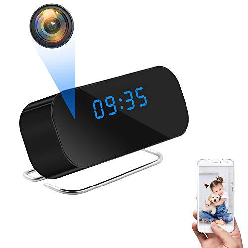 UYIKOO WiFi Orologio Fotocamera Dell'orologio, Spia Nascosta Telecamera HD 1080P Mini WiFi Orologio Fotocamera con 150° Grandangolare Supporto App Vista a Distanza