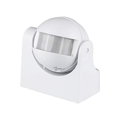 V-TAC SKU.4967 - Rilevatore di presenza orientabile bianco VT-8003, plastica e altri materiali, 300 W, altezza x larghezza x profondità: 86 mm x 60 mm x 98 mm