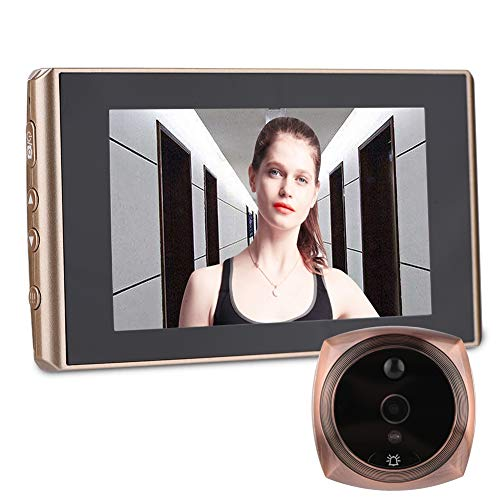 VBESTLIFE Telecamera spioncino, 4300E Digital Door Viewer e Campanello 2 Milioni di Pixel 4.3in LCD Screen Night Vision Campanello