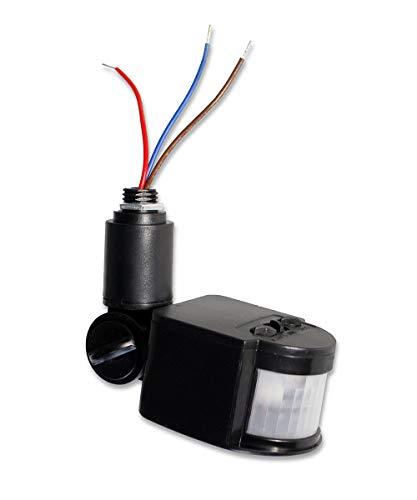 Vetrineinrete® Sensore di movimento e crepuscolare a infrarossi per fari e illuminazione per esterni rilevatore di movimenti accensione automatica con timer per esterno ed interni 220v D60