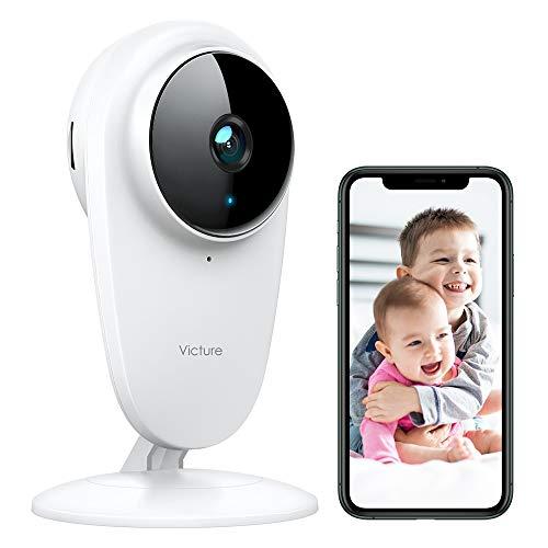 Victure 1080P Baby Monitor, Telecamera 2.4G Wi-Fi Interno Videocamera Babyphone per Bambini/Animali/Anziani Domestici, Visione Notturna, Rilevamento del Movimento e Audio Bidirezionale