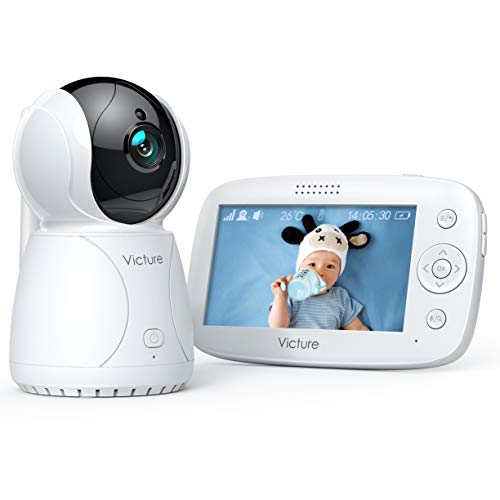 Victure Baby monitor con LCD HD Schermo da 4.3 Pollici, Telecamera con Audio, Videocamera per Neonati con Visione Notturna , Zoom