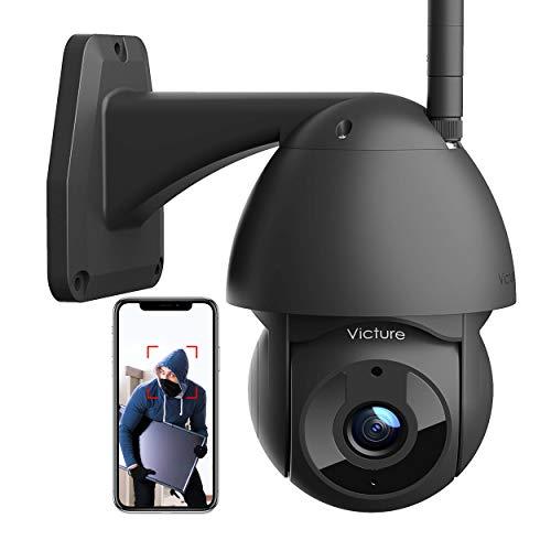 Victure Telecamera WiFi Esterno Telecamera 1080P con Vista 360° Visione Notturna Impermeabile IP66 Rilevamento del Movimento Compatibile con iOS/Android