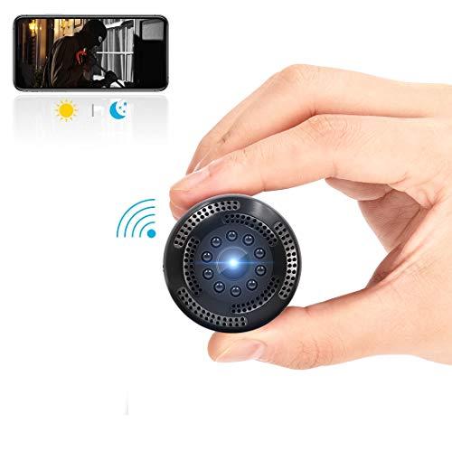 Videocamera nascosta senza fili 1080P HD mini telecamera spia WiFi con registratore video/sensore di movimento/visione notturna/monitoraggio a distanza per iPhone/Android/iPad