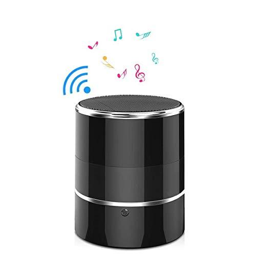 Videocamera nascosta WiFi Espion 1080P altoparlante Bluetooth con obiettivo girevole a 180° e rilevamento di movimento (nero)