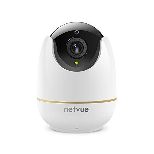 Videocamera Sorveglianza Interno WiFi - Netvue 1080P Full HD Webcam Wifi Senza Fili con Rilevamento di Umano Movimento, Zoom 8x, Visione Notturna, Audio Bidirezionale, Telecamera per Cani/Animali