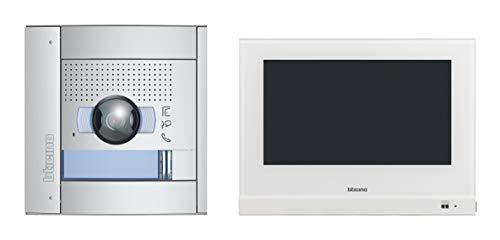 """Videocitofono Flex One-Set per casa monofamiliare, 2 fili 7"""" Hometouch con monitor touchscreen e WLAN, posizione esterna SFERA: 135°/96° e fotocamera illuminata a LED, memoria video, IP54, IK10"""