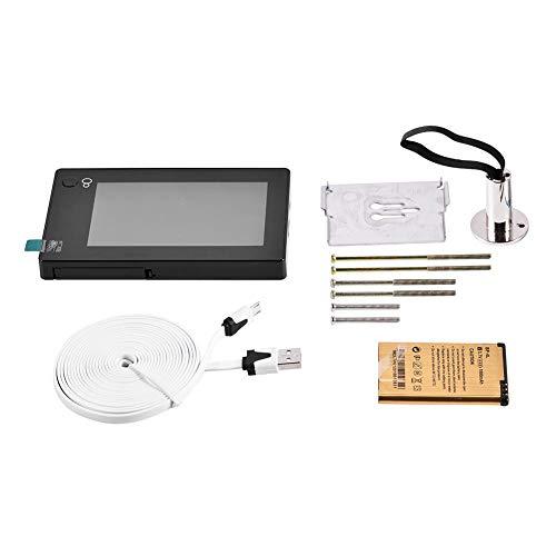 Visore spioncino grandangolare 145 °, monitor LCD TFT HD a colori da 4,3 pollici con videocamera di sicurezza per porta digitale intelligente, visore spioncino intelligente
