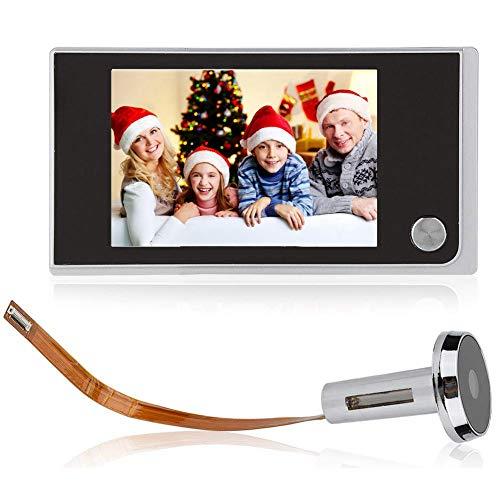 Visualizzatore Digitale per Porte, Spioncino LCD da 3,5 Pollici Ultrasottile con Telecamera Cat Eye Elettronica da 120 Gradi per la Sicurezza Domestica Facile da Installare