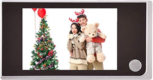 Visualizzatore Digitale per Porte, Videocamera di Sicurezza Intelligente, Schermo per Mirino Video 720p HD 3,5 Pollici a Colori + 120 ° Angolo di Visione, per Casa/Hotel/Ufficio