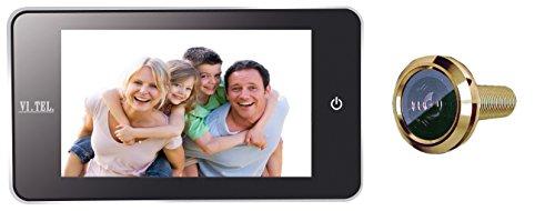 """VI.TEL. E0378 40 Spioncino Digitale 4.0"""", LCD, Angolo Visuale: 110°, Oro"""