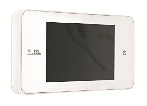 """Vi.Tel. E0378 60 Spioncino Digitale, Bianco, 4"""""""