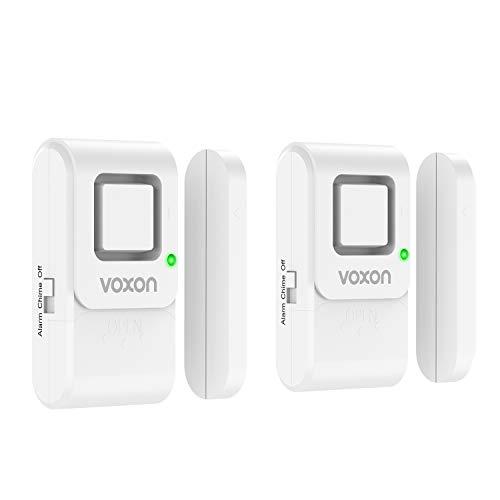 VOXON Allarme Casa - Sistema di Allarme per Porte e Finestre, Sensore di Allarme Domestico Magnetico Wirless, Kit Anti-Effrazione per La Protezione dei Bambini, Casa, Frigorifero, Negozio