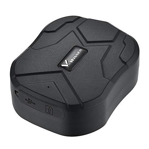 Winnes Localizzatore auto GPS Tracker,10000mAh 150 Giorni Standby Impermeabile Anti-theft Geo-Fence Move Alarm GPS Locator per Auto/Veicoli/Camion/Moto/App Gratuita TK905B