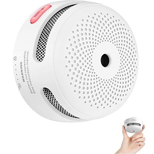 X-Sense Mini Rilevatore di fumo, rilevatore di fumo fotoelettrico con innovativo allarme antincendio, con batteria dalla durata di 10 anni, EN 14604, con certificazione TÜV, XS01 (1 pezzi)